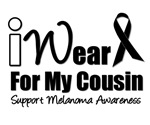 I Wear Black Ribbon For My CousinT-Shirts & Gifts