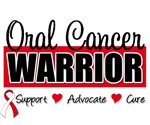 Oral Cancer Warrior Badge T-Shirts & Gifts