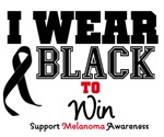 Melanoma I Wear Black To Win Shirts