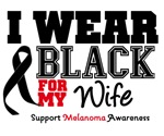 Melanoma I Wear Black For The Cure Shirts