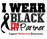 Melanoma I Wear Black For My Partner Shirts