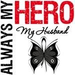 Melanoma Always My Hero My Husband T-Shirts