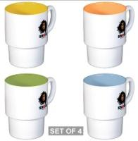 Limited Edition Snob Logo Girl Stacked Mug Sets