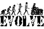 Lawn Mower Racing Evolution T-shirts