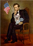 ABRAHAM LINCOLN<br>WIth a Yorkshire Terrier (#13)