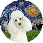 STARRY NIGHT<br>White Poodle 1