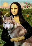 MONA LISA<br>& Siberian Husky(RED)