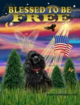 BLESSED TO BE FREE<br>& Black Cocker Spaniel