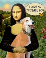 MONA LISA & HER<br>Greyhound Therapy Dog (Red)