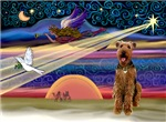 CHRISTMAS STAR<br>WIth Airedale #3