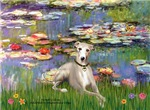 LILIES by MONET<br>With Whippet #2