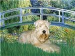 LILY POND BRIDGE<br>& Wheaten Terrier