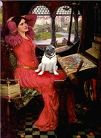 LADY OF SHALOTTE<br>& Fawn Pug