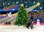CHRISTMAS MAGIC<br>With a Black Great Dane