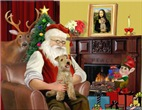 SANTA AT HOME<br> & Lakeland Terrier