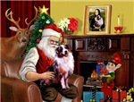 SANTA AT HOME<br>With his Merle Aussie