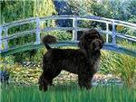 LILY POND BRIDGE<br> & Portuguese Water Dog