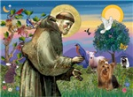 SAINT FRANCIS<br>With Yorkshire Terrier (#7)
