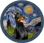 STARRY NIGHT (WREATH)<br>& Doberman PInscher