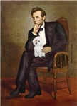 ABRAHAM LINCOLN<br>& White Poodle (Min)