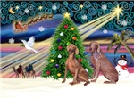 CHRISTMAS MAGIC<br>& 2 Weimaraners
