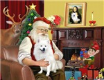 SANTA AT HOME<br>& American Eskimo Spitz