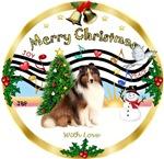 CHRISTMAS MUSIC 1MCL <br> & Shetland Sheepdog