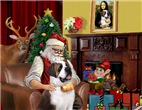 SANTA AT HOME<br>& Saint Bernard