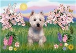 SPRING BLOSSOMS<br>& West Highland Terrier#6