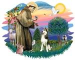 St. Francis #2 &<br> Siberian Husky #3