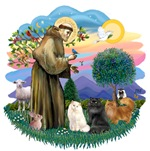 St. Francis (ff) with<br>Three Persian Cats