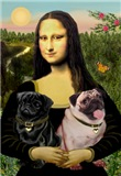 MONA LISA<br> & 2 Pugs