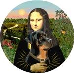Mona Lisa<br>& her Rottweiler