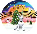 CHRISTMAS MUSIC #@<br>White Bull Terrier
