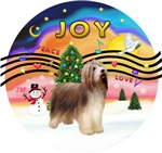 CHRISTMAS MUSIC #2<br>Bearded Collie (brown-cream)