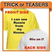 Riddle T-shirts Costumes, Tshirt Costume Teasers
