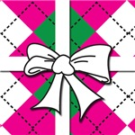 Pink Argyle Bow Jewelry and Gifts