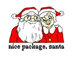 Nice Package Santa T-shirts & Stocking Stuffers