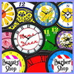 decorator retro kitchen wall clocks