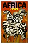 TWA Vintage Fly to Africa Print