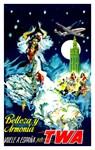 TWA Vintage Fly to Spain Advertising Print