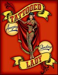 Tattooed Lady Circus Print