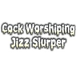 Cock worshiping jizz slurper
