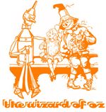 The wizard of Oz friends sit down and relax between their adventures.  The Tinman, Dorothy and the Scarecrow are all here in this great retro Wonderful Wizard of Oz design.