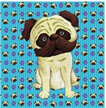 Fawn Color Pug Painting