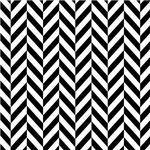 Black and White Herringbone