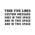 Five Lines Text customized