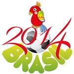 World Cup Soccer 2014 Brasil Parrot