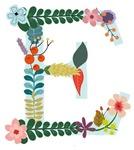 Floral Monogram E