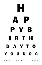 Optometrist/Ophthalmologist Birthday